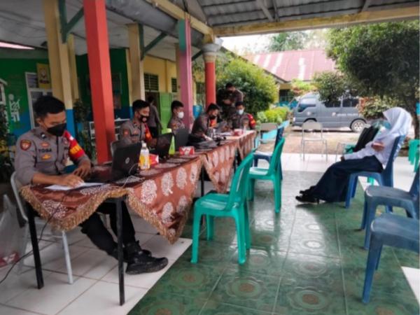 Pelaksanaan Vaksinasi di SMPN 21 Batang Hari